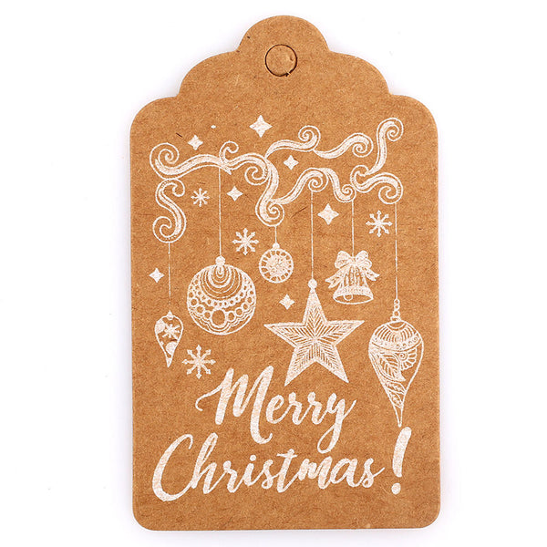 50Pcs Merry Christmas DIY Paper Banner