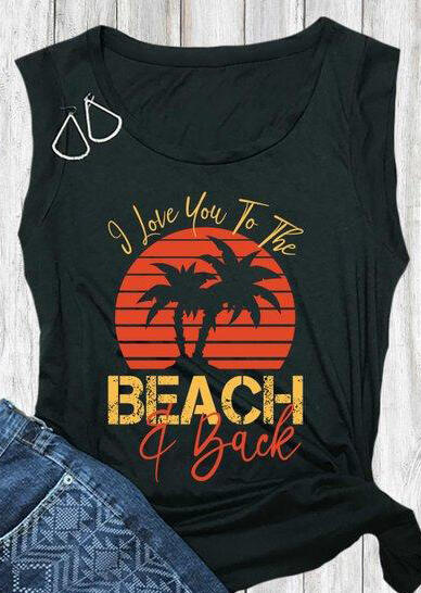 I Love You To The Beach Tank
