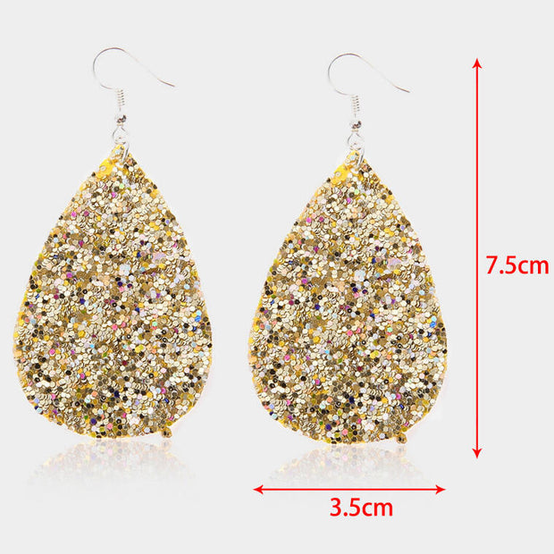 Water Drop Sequined Earrings