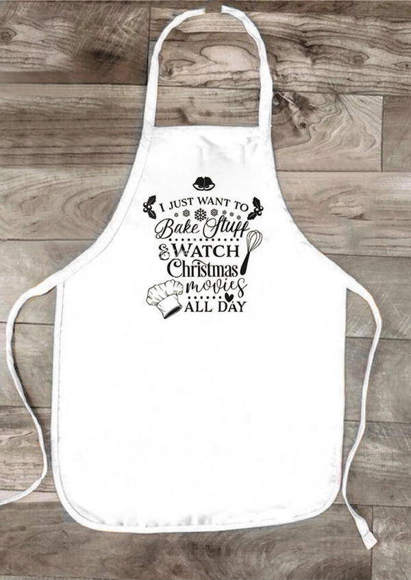 Christmas I Just Want To Bake Stuff Apron