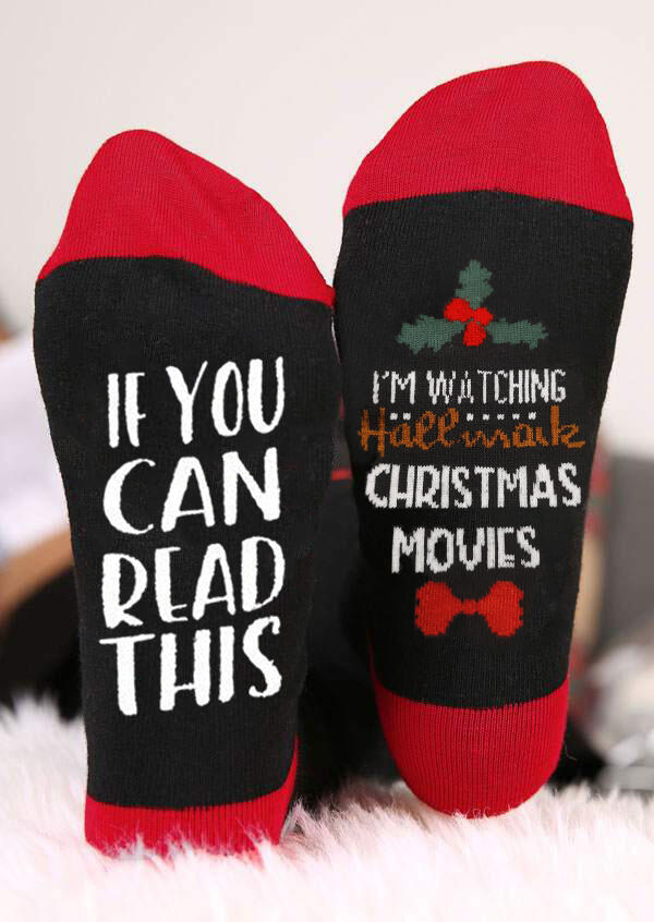 I'm Watching Hallmark Christmas Movies Socks