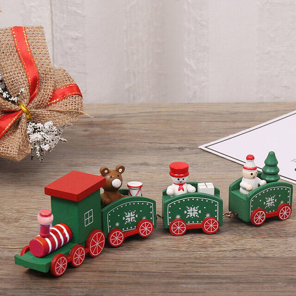 Christmas Decor Wooden Ornaments Train