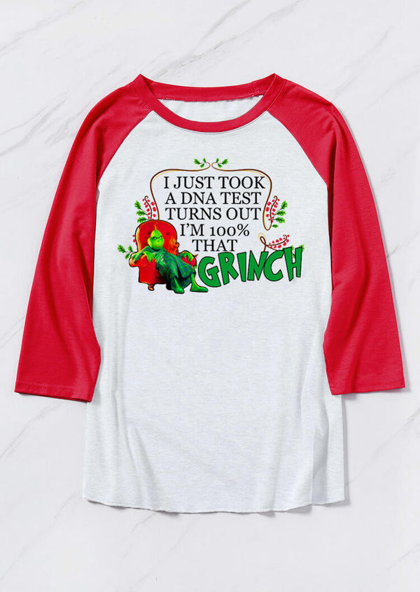 I Just Took A DNA Test I'm 100% That Grinch T-Shirt Tee - White