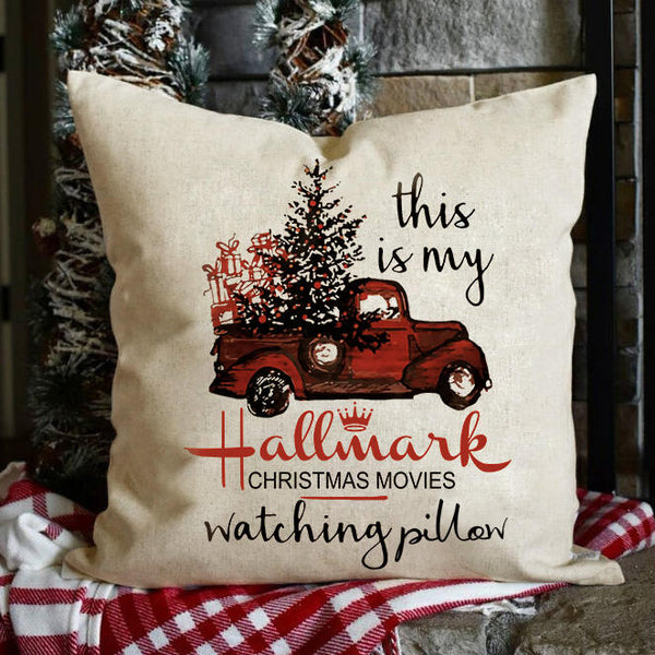 Hallmark Christmas Movies Watching Pillowcase without Pillow Inner