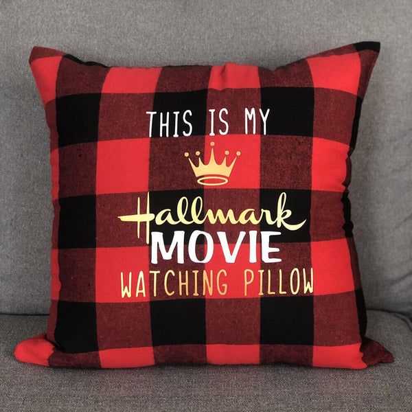 This Is My Hallmark Movie Watching Buffalo Plaid Pillowcase without Pillow Inner