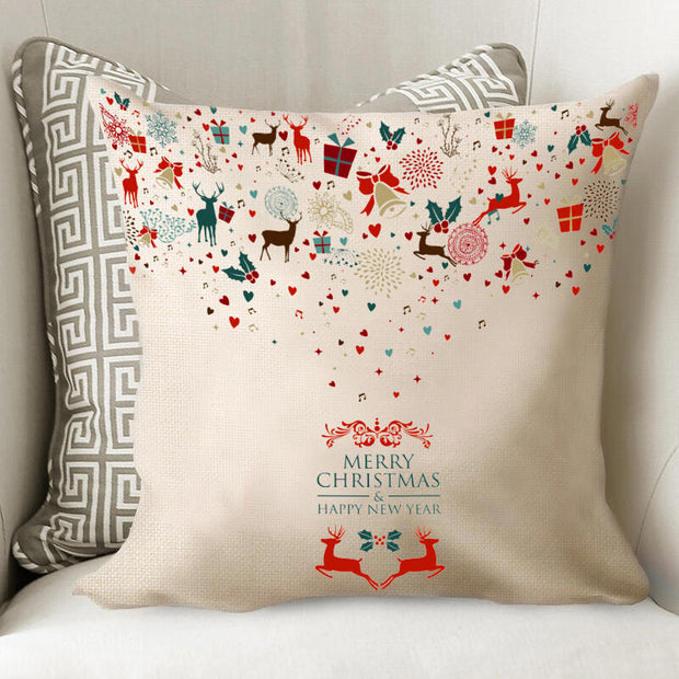 Starry Elk Merry Christmas Pillowcase without Pillow