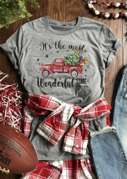 It's The Most Wonderful Time Of The Year Christmas T-Shirt Tee - Gray