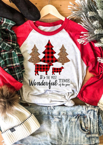 Christmas It's The Most Wonderful Time Of The Year T-Shirt Tee - Light Grey