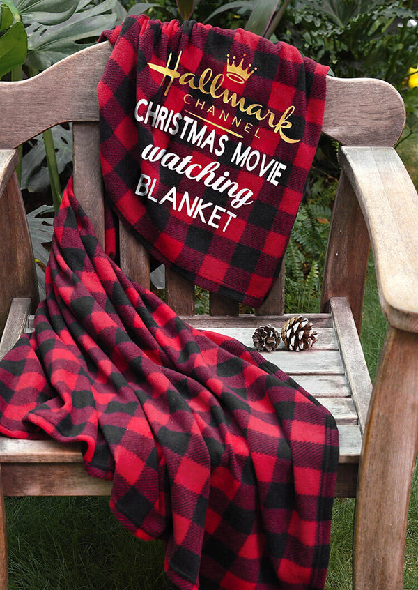 Plaid Hallmark Channel Christmas Movie Watching Blanket