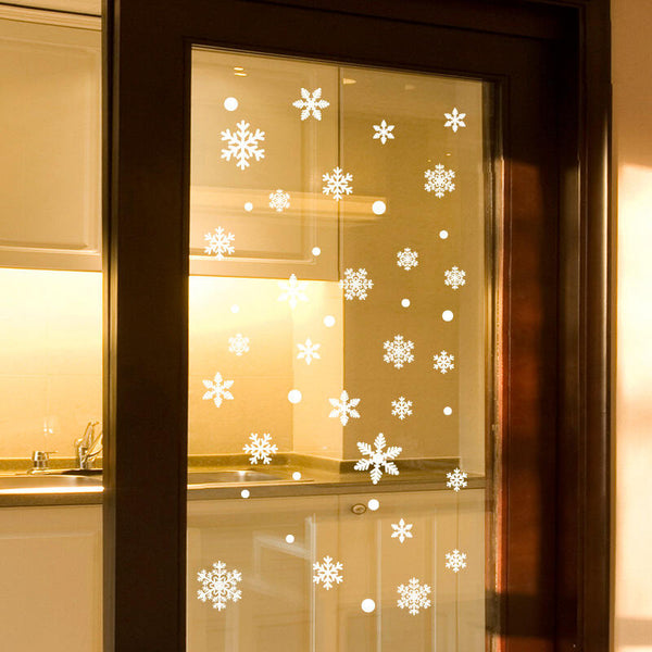 Glass Door Christmas Decoration Snowflake Sticker