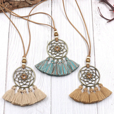 Creative Dreamcatcher Tassel Rope Necklace