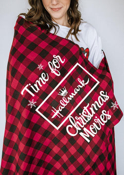 Plaid Time For Hallmark Christmas Movies Blanket