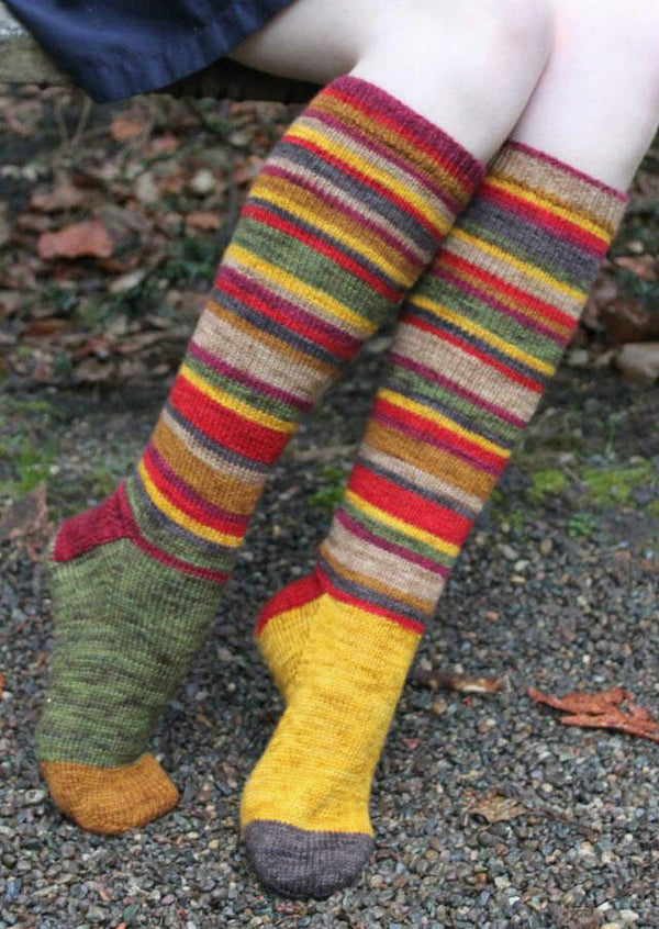 Christmas Colorful Striped Warm Calf-High Socks