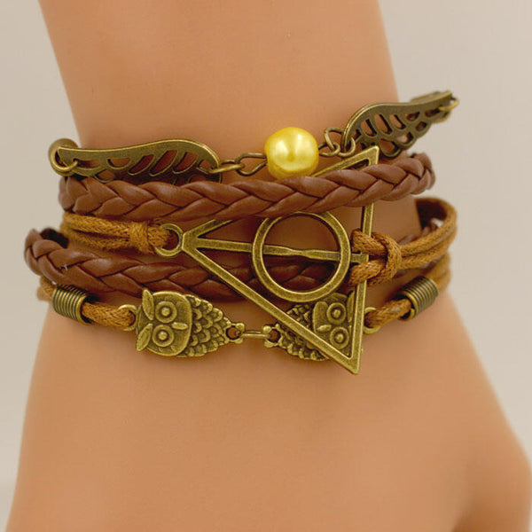 Owl Angel Wing Bead Weaven Bracelet