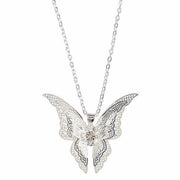 Hollow Out Butterfly Pendant Necklace