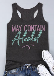 May Contain Alcohol Tank - Dark Grey