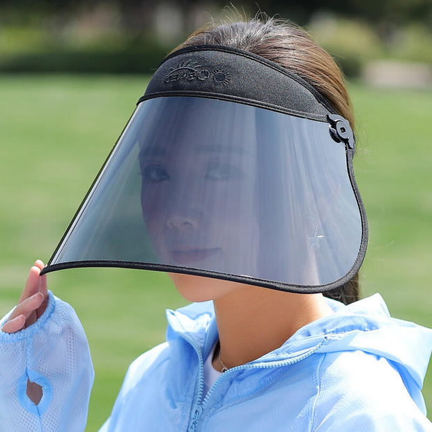 Windproof UV Protection Foldable Sun Hat with Plastic Visor