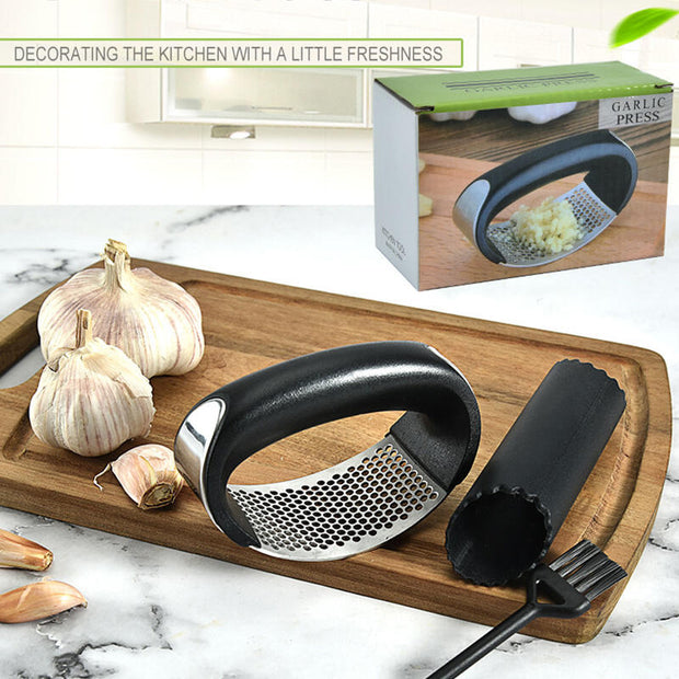 Stainless Steel Manual Garlic Press Squeezer