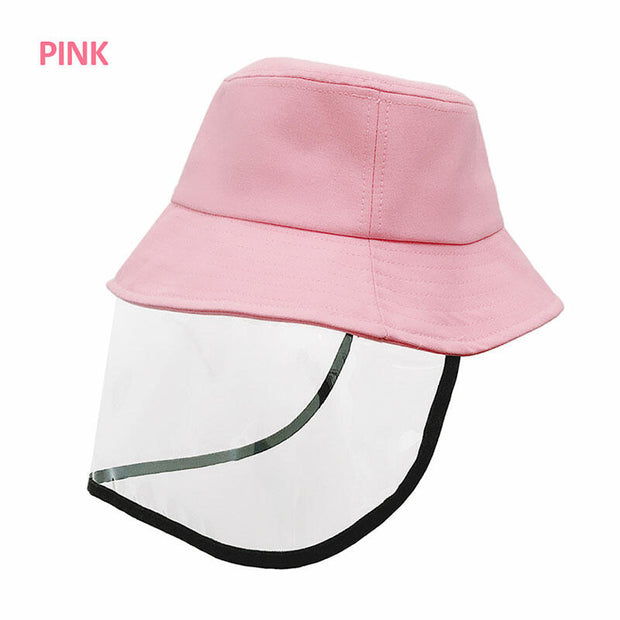 Children's Fisherman Hat with Splash-Proof Face Shield