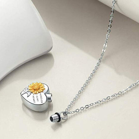 Presale - Sunflower Forever In My Heart Necklace