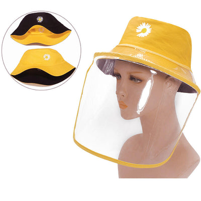 Sunflower Double-Sided Detachable Splash-Proof Fisherman Hat