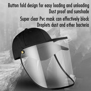 Protective Baseball Cap with Removable Flip-Up Visor Shield