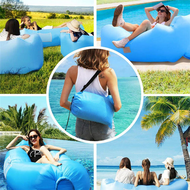 Portable Inflatable Lounger Air Sofa Pouch Couch