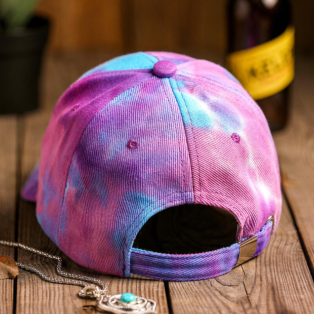 Tie Dye Baseball Cap - Purple