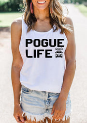 Pogue Life O-Neck Tank - White