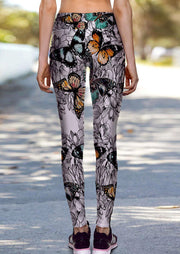 Floral Butterfly Activewear Yoga Sports Leggings