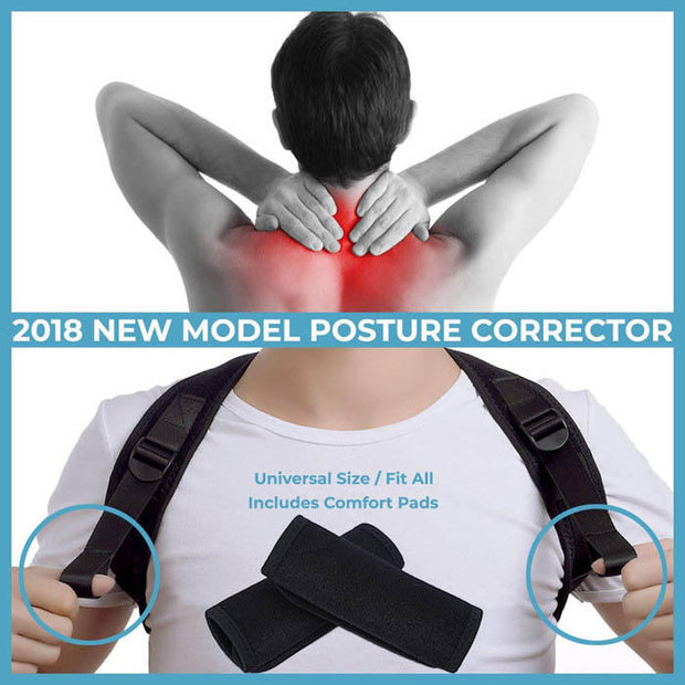 Adjustable Sitting Back Posture Orthosis - Black