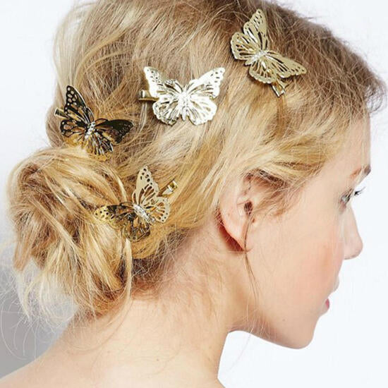 2 Pairs Butterfly Hair Clips Hairpins