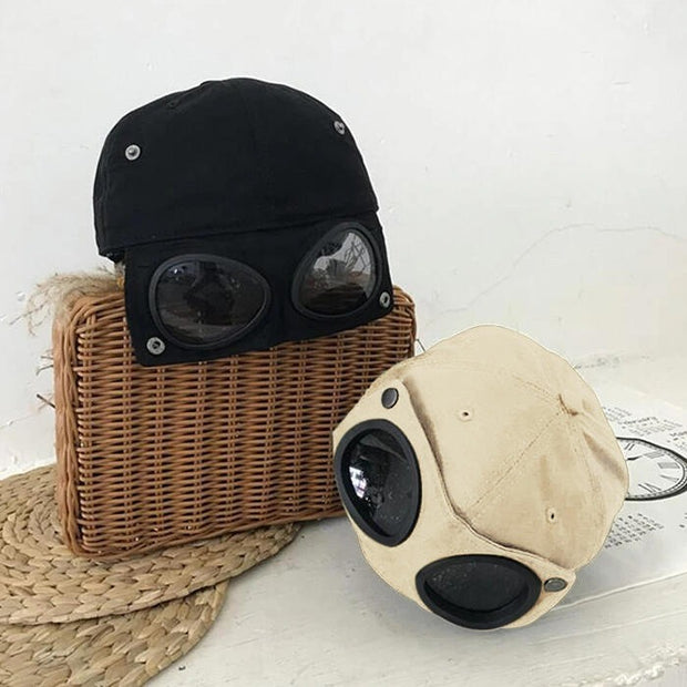 Creative Baseball Cap with Goggles