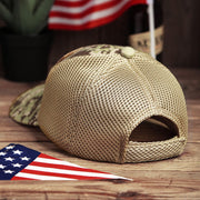 American Flag USA Camouflage Hollow Out Baseball Hat