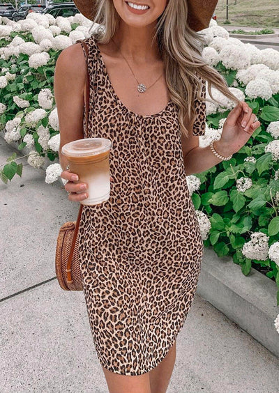 Presale - Leopard Mini Dress without Necklace
