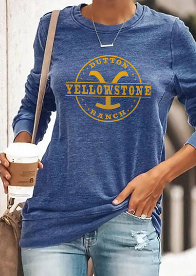 Presale - Yellowstone Dutton Ranch T-Shirt Tee without Necklace - Blue