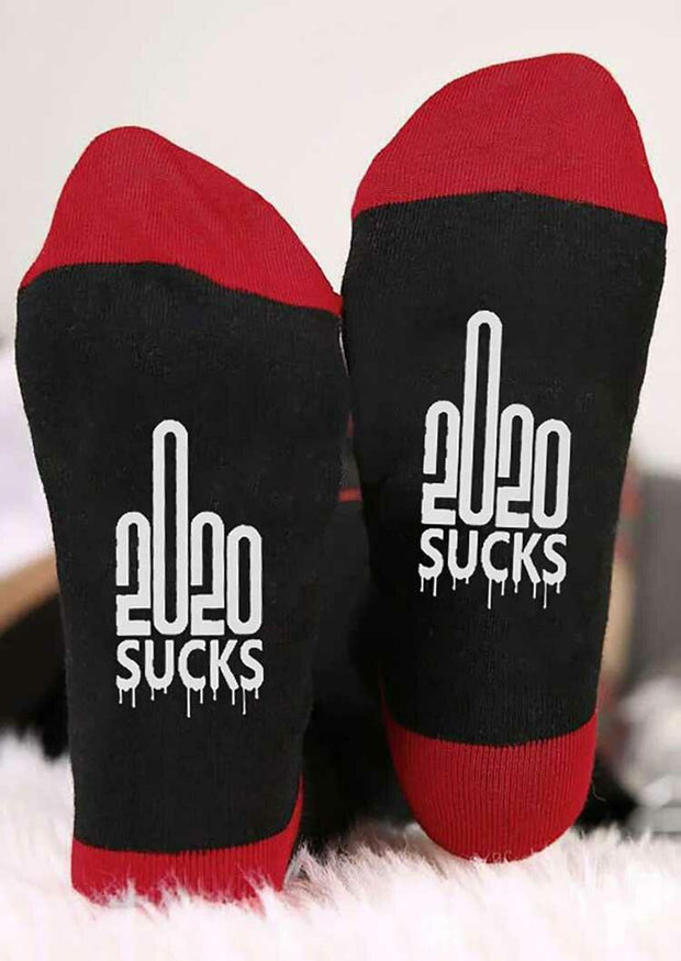 Number Graphic 2020 Sucks Warm Socks