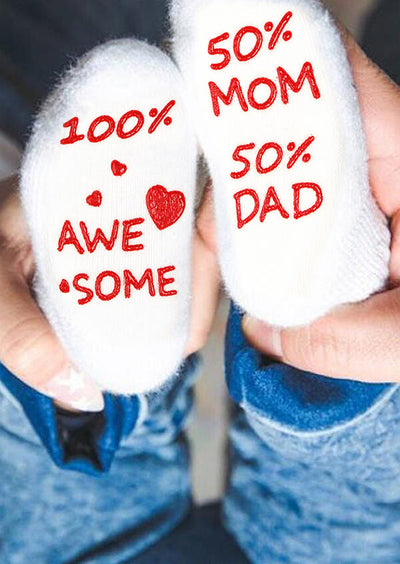 Cute Letter Graphic Non-Slip Infant Baby Socks