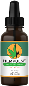 Hempulse premium 500mg isolate CBD oil for sleep support and more!
