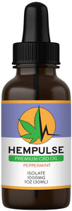 Hempulse premium 1000mg isolate CBD oil for relief of pain, inflammation, stress, and anxiety