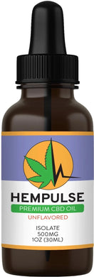 Hempulse premium 500mg isolate CBD oil for relief of pain, inflammation, stress, and anxiety