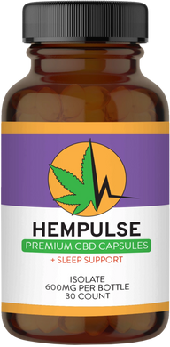Hempulse premium 20mg isolate CBD capsules for sleep support and more!