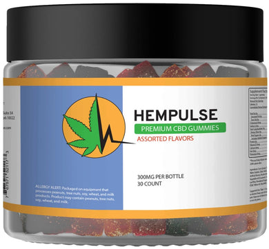 Hempulse premium 10mg gummies for pain, inflamation, stress, and anxiety