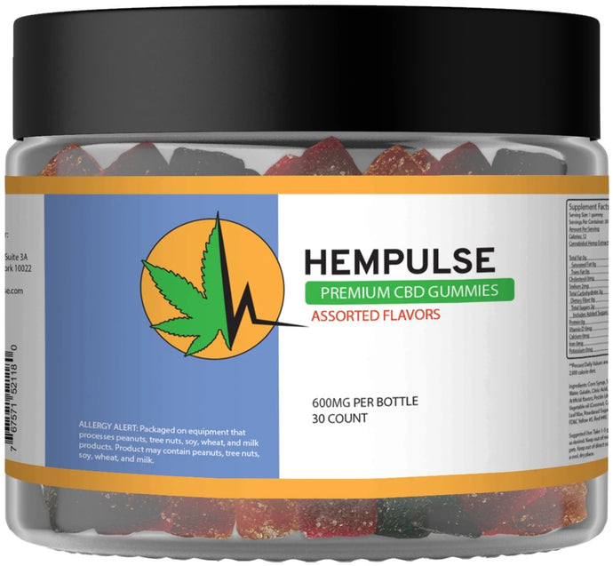 Hempulse premium 30mg gummies for pain, inflamation, stress, and anxiety
