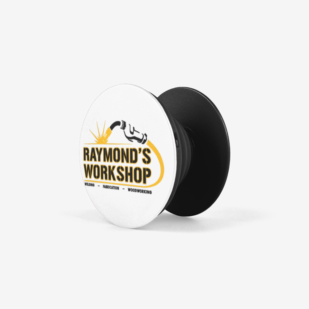 Raymond's Workshop Pop Socket Collapsible Grip & Stand for Phones and Tablets