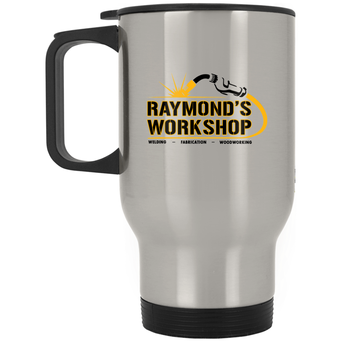 Raymond's Workshop Silver Stainless Travel Mug