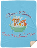 Close Shave Pet Grooming Sherpa Blanket - 60x80
