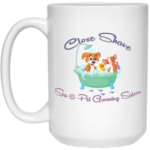 Close Shave Pet Grooming 15 oz. White Mug