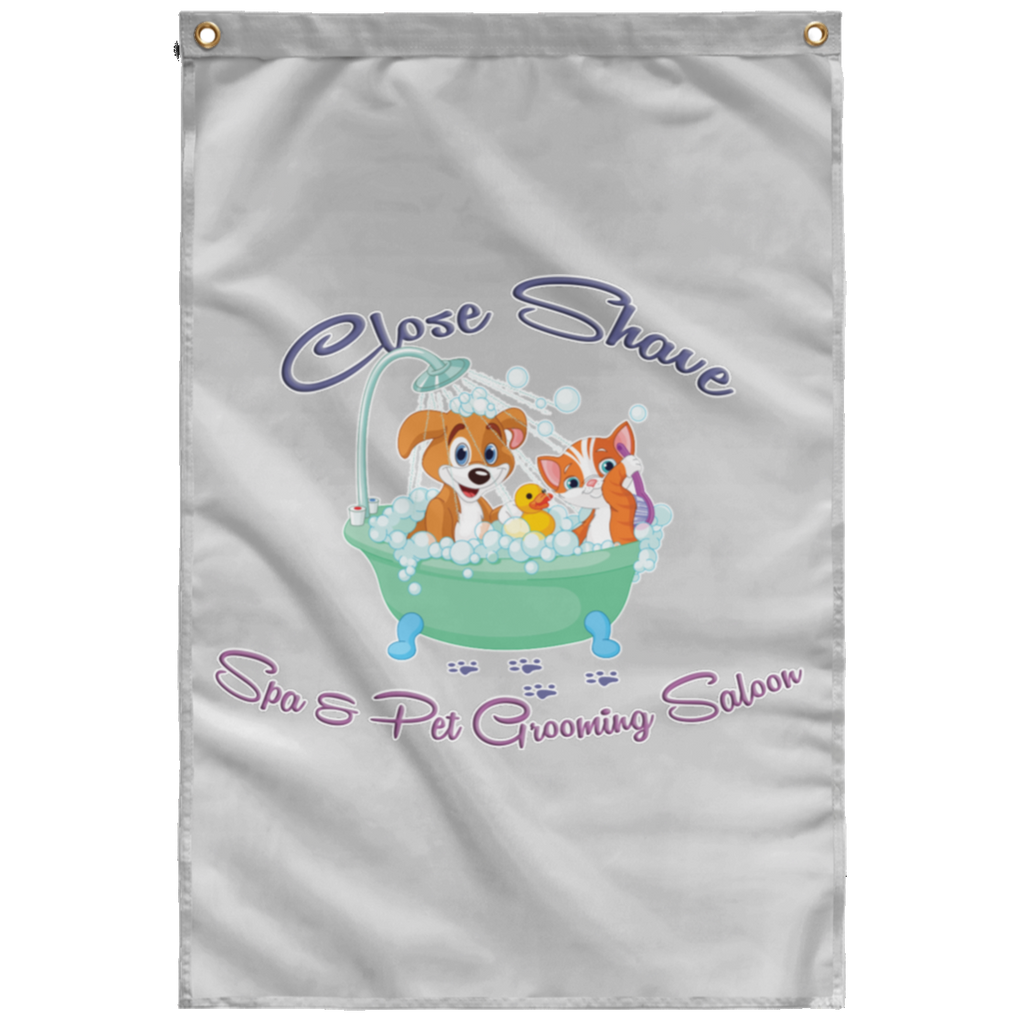 Close Shave Pet Grooming Wall Flag