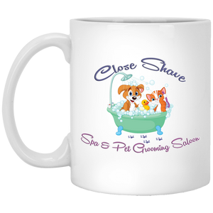 Close Shave Pet Grooming 11 oz. White Mug